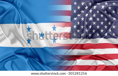 Relations between two countries. USA and Honduras - stock photo