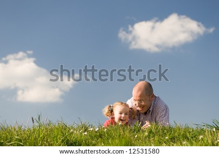 Relationship between father and daughter. Use it for lifestyle concepts - stock photo
