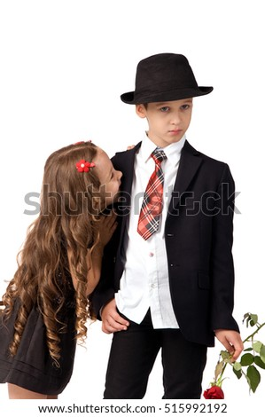 relationship between the children. boy was offended by the girl