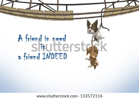 relationship of friends,a friend in need is a friend indeed - stock photo