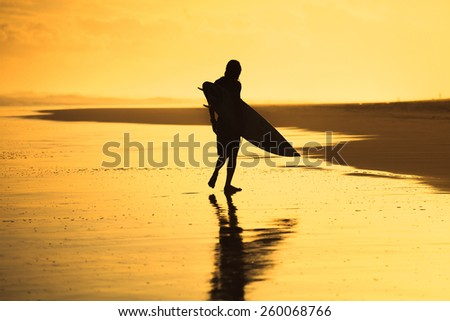 relax after surfing - stock photo