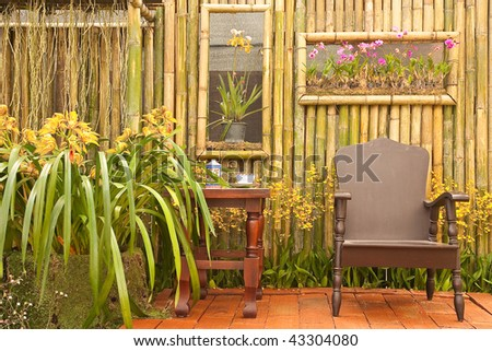 Relax corner in Thai style house