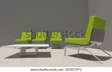 Relax house room  with modern seat
