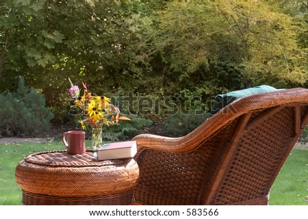 Relax in fall sunshine - stock photo