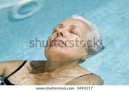 Relax in the pool - stock photo