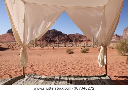 Relax in the Wadi Rum - stock photo