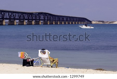 Relax on the beach - stock photo