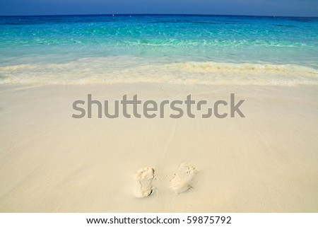 Relax on the beach . Similan island south of Thailand. - stock photo