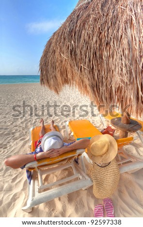Relax on the Caribbean beach