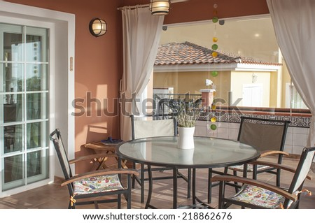 relax on the terrace - stock photo