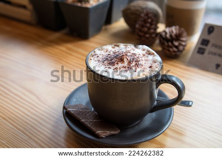 Relax time with Coffee and cookies in coffee cafe - stock photo