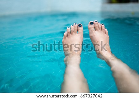 Beautiful Sexy Feet Toes By Swimming Stock Photo 135353411 Shutterstock