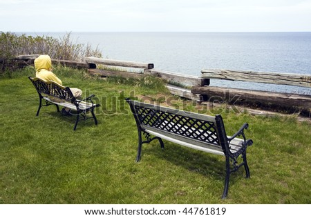 Relaxation by Lake Superior - stock photo
