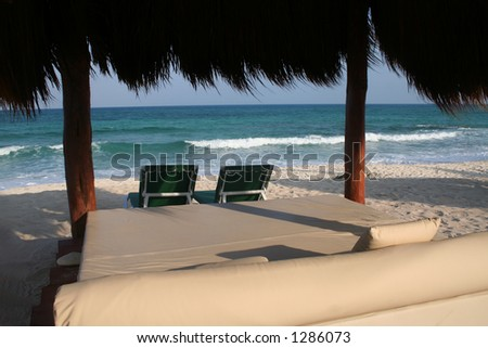 Relaxation in paradise - stock photo