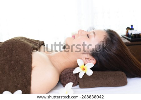 Relaxed beautiful woman