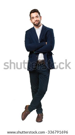 relaxed cool man - stock photo
