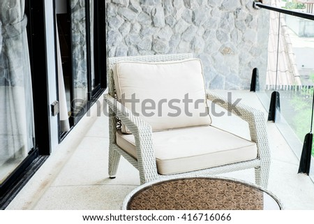Relaxing beige chairs - stock photo