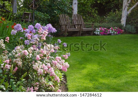 Relaxing Garden - stock photo