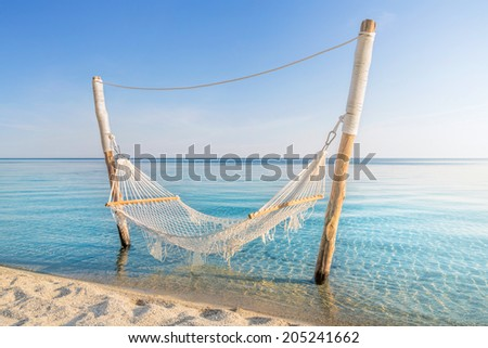 Relaxing holiday on the beach - stock photo