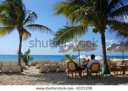Relaxing in a Tropical Paradise - see more in portfolio - stock photo