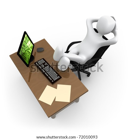 Relaxing In The Office - stock photo