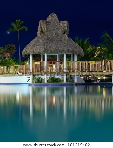 Relaxing in the Paradise-The spectacular Dominican Republic - stock photo