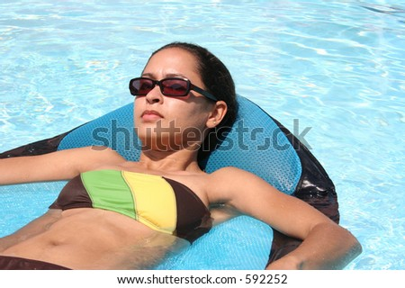 Relaxing in the water - stock photo