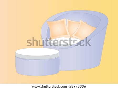relaxing lounge - stock photo