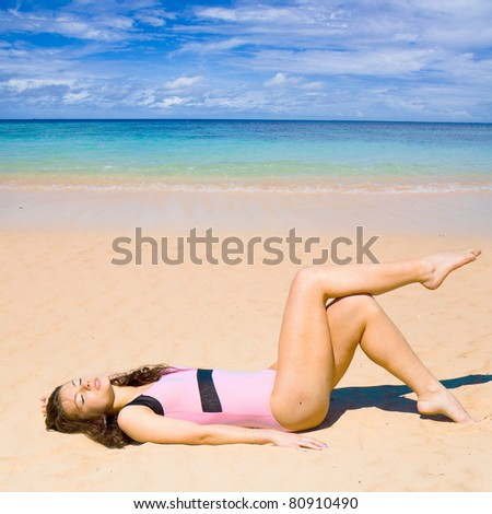 Relaxing on a Beach