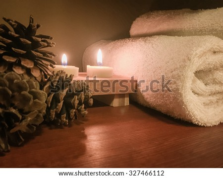 Relaxing spa atmosphere - stock photo