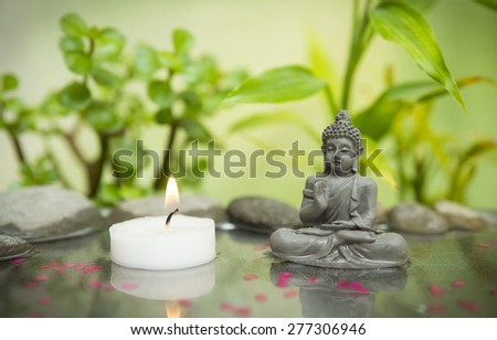 Relaxing zen garden - stock photo