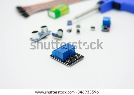Relay for industry work - stock photo