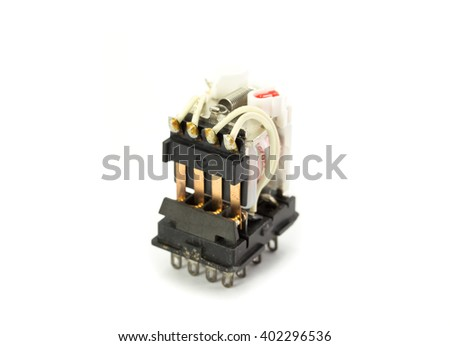 Relay Module Time Delay Switch - stock photo