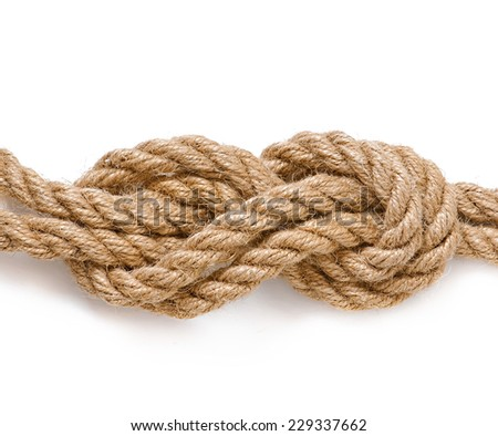 reliable knot isolated on white background