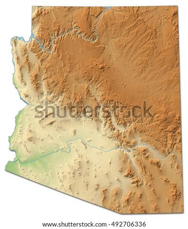 Map United States Arizona Dillustration Stock Vector - United states map arizona