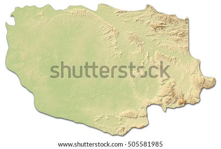 Relief Map Savannakhet Laos 3drendering Stock Illustration 505581985