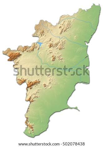 Relief map tamil nadu india 3 d rendering stock illustration relief map tamil nadu india 3d rendering gumiabroncs Image collections