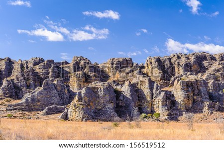 Relief, rock, mountain, canyon in Madagascar - stock photo