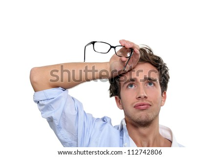 Relieved man - stock photo