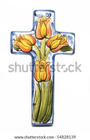 Religion Cross isolated - stock photo