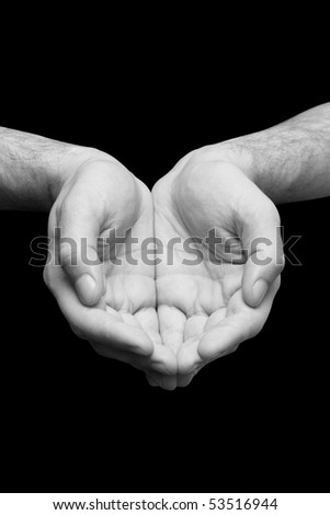 religion prayer hands - stock photo