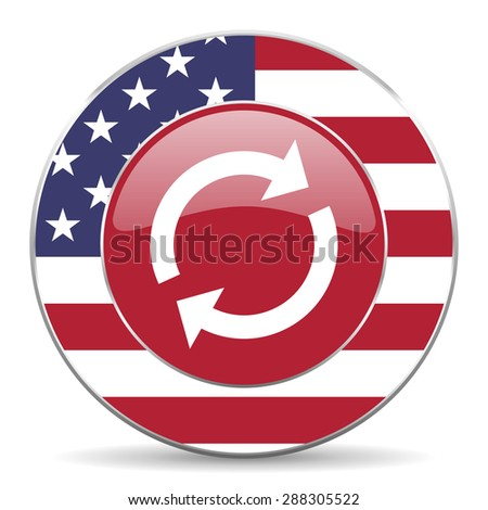 reload american icon original modern design for web and mobile app on white background  - stock photo