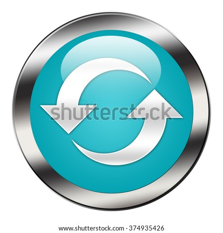 reload button isolated - stock photo