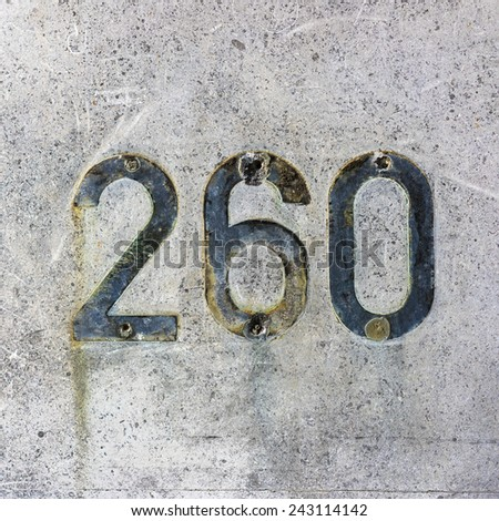 remains of an removed house number two hundred and sixty - stock photo