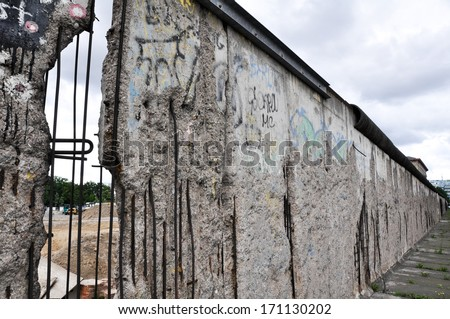 Remains of the Berlin Wall, Germany - stock photo