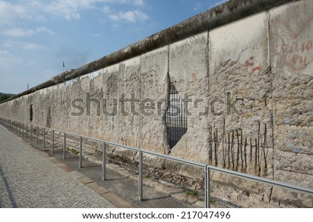 Remains of the Berlin Wall, Germany, Europe - stock photo