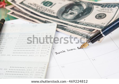 "Reminder ""bank loan"" in calendar"