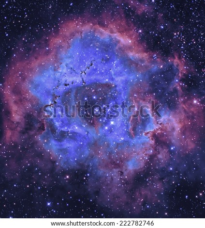 Remnant of the supernova explosion.  - stock photo