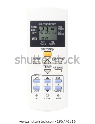 remote control air condition isolated - stock photo