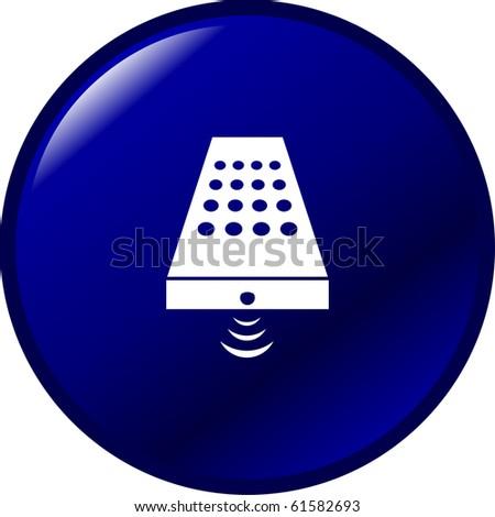 remote control button - stock photo